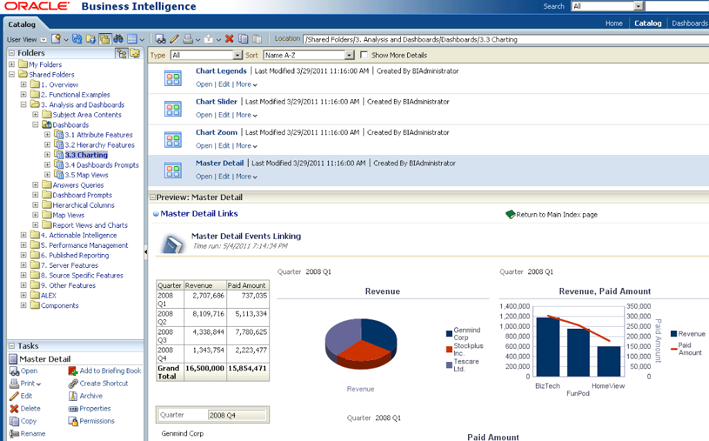 obiee 11g catalog preview updated the siebel hub