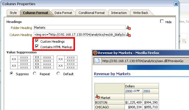 11 obiee 11g tips   2 html content in column header